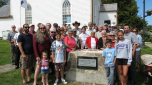 Crowd gathered for the sealing of the time capsule